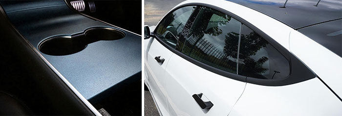 covering interieur voiture chrome delete